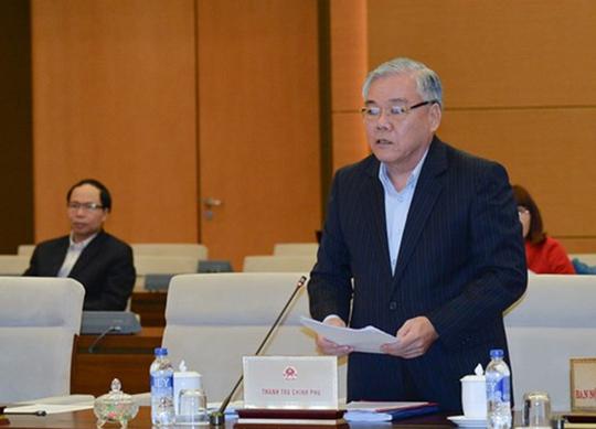 Tổng Thanh tra Chính phủ Phan Văn Sáu trình bày dự thảo Luật sửa đổi, bổ sung một số điều của Luật tố cáo - Ảnh: Nguyễn Nam