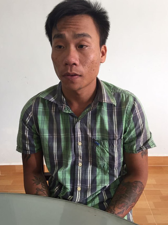 Đối tượng Phong tại Cơ quan CSĐT Công an huyện Phú Quốc.
