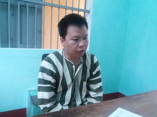 Bị can Trần Văn Hùng.
