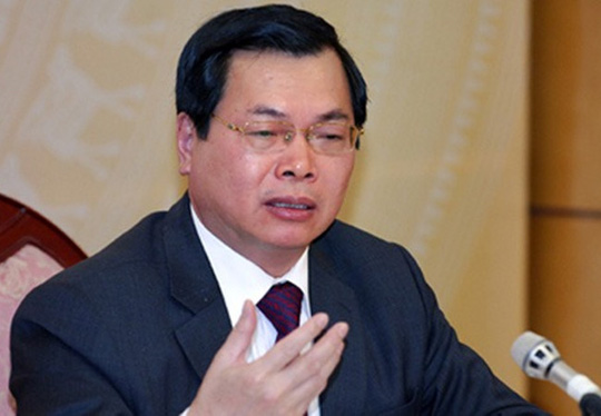 Nguyên Bộ trưởng Bộ Công Thương Vũ Huy Hoàng