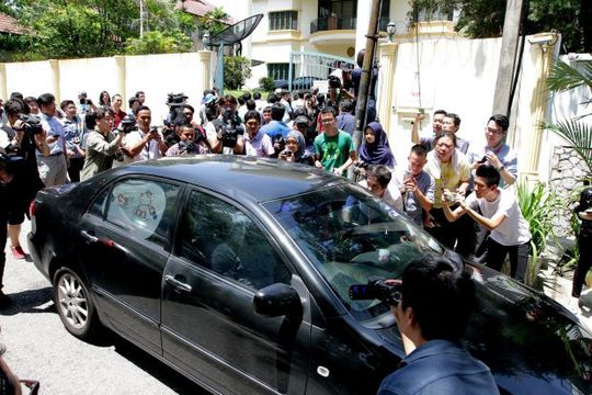 Đại sứ Triều Tiên tại Malaysia Kang Chol vừa rời Đại sứ quán tại Jalan Batai. Ảnh: The Star