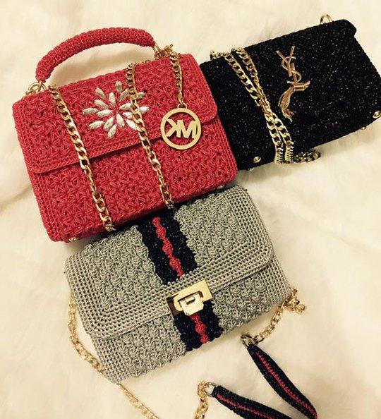 Những chiếc túi handmade móc bằng vải sợi theo dáng hàng hiệu khiến chị em điên đảo