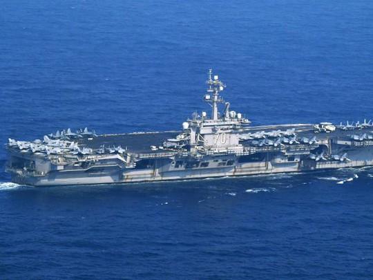 USS Carl Vinson tại khu vực tỉnh Nagasaki, phía Nam Nhật Bản. Ảnh: AP