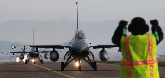 Chiếc KF-16 của quân đội Hàn Quốc Ảnh: YONHAP