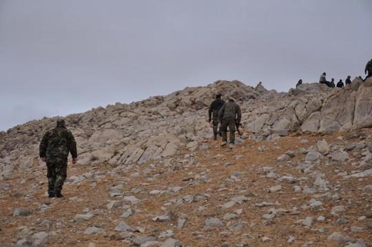 Lực lượng trung thành với Tổng thống Syria Assad ở TP Palmyra ngày 2-3. Ảnh: REUTERS