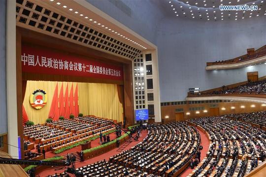 Các đại biểu dự kỳ họp thứ 5 Chính Hiệp khóa 12 tại Đại lễ đường Nhân dân ở thủ đô Bắc Kinh. Ảnh: REUTERS