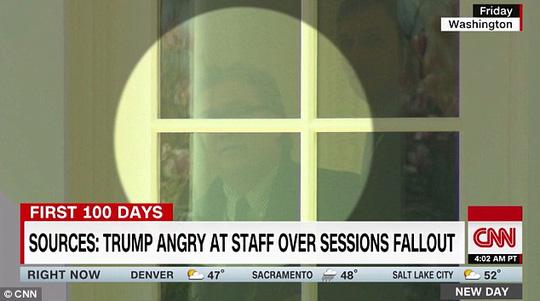 Tổng thống Mỹ Donald Trump được cho đã nổi giận lôi đình với cấp dưới. Ảnh: CNN