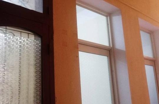 Tấm biển ghi chức danh của bà Trần Vũ Quỳnh Anh trên tầng 5 Sở Xây dựng tỉnh Thanh Hóa đã không còn (ảnh chụp ngày 10-3)