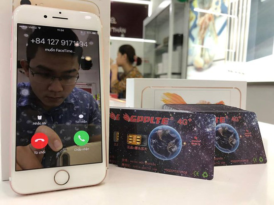 Thử nghiệm gọi FaceTime trên iPhone khóa mạng dùng SIM ghép mới.