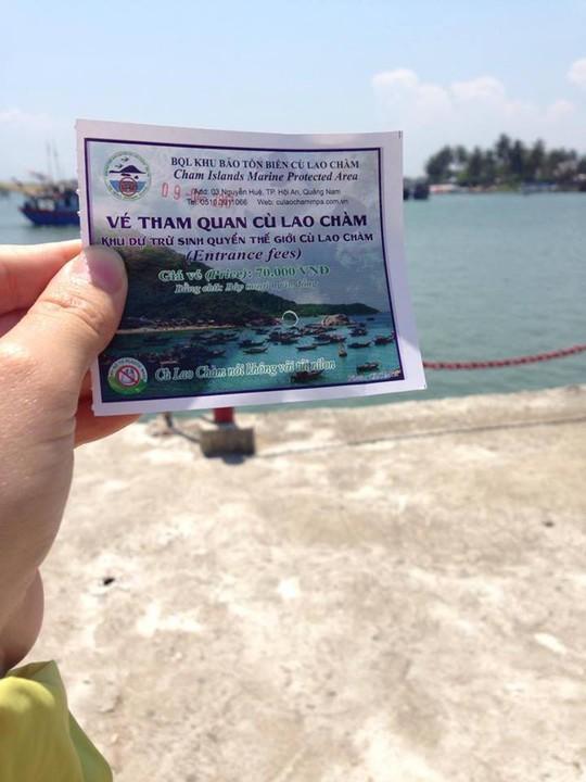 Vé tham quan Cù Lao Chàm có giá 70.000 đồng/ người lớn