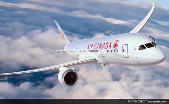 Một chiếc máy bay của hãng hàng không Air Canada. Ảnh: AirCanada.com