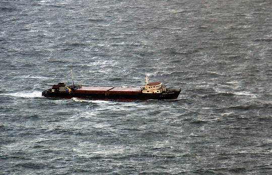 Một tàu chở hàng trên biển Đen. Ảnh: Tass