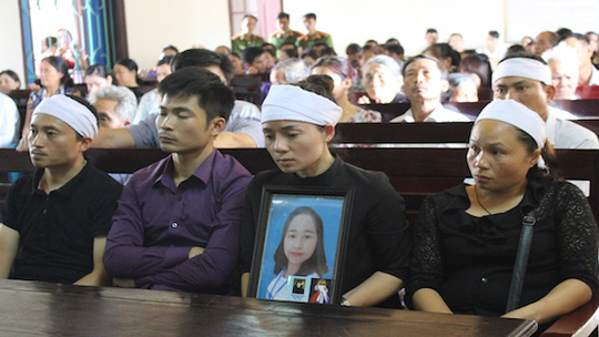 Đại diện gia đình bị hại tại phiên xử