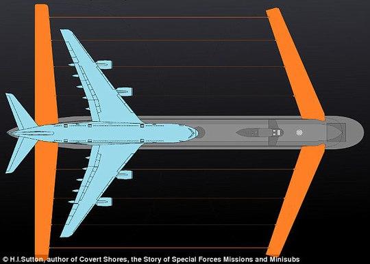 Nga đóng tàu ngầm lớn nhất thế giới, có cánh như máy bay - Ảnh 1.