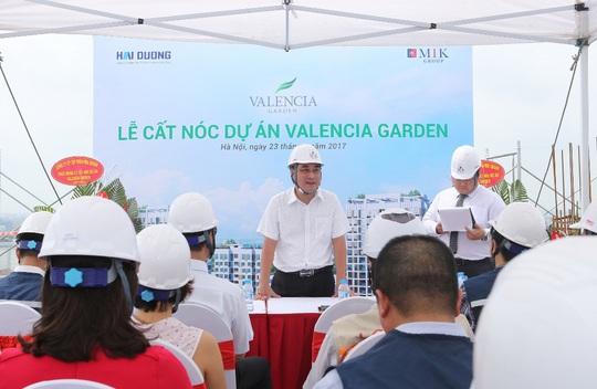 Chính thức cất nóc dự án Valencia Garden - Ảnh 1.