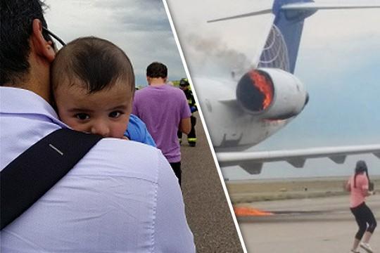 Mỹ: Máy bay cháy động cơ khi vừa hạ cánh - Ảnh 2.