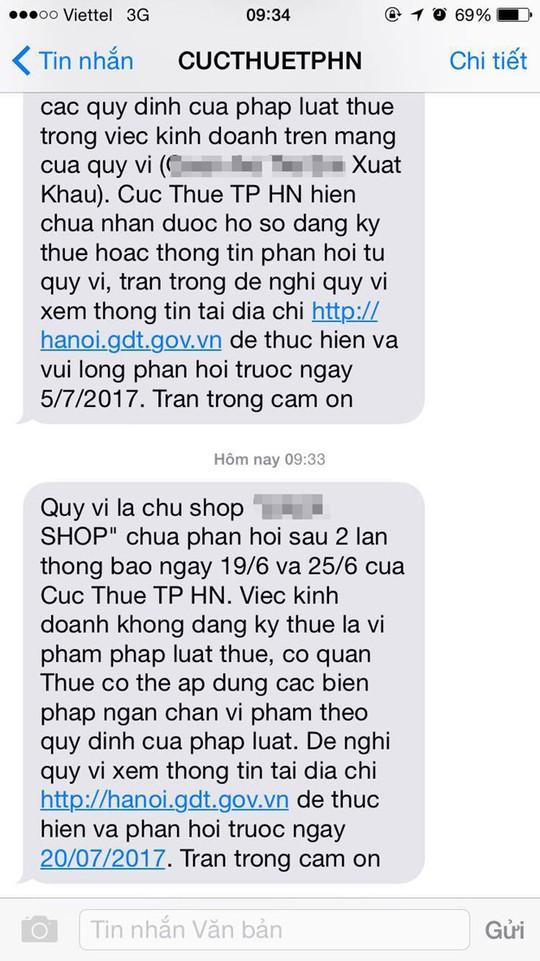 Chủ shop online kê khai thuế vì lo bị đóng tài khoản - Ảnh 1.