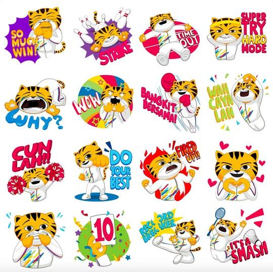 Facebook ra mắt bộ nhãn dán sticker Rimau cho SEA Games 2017 - Ảnh 1.