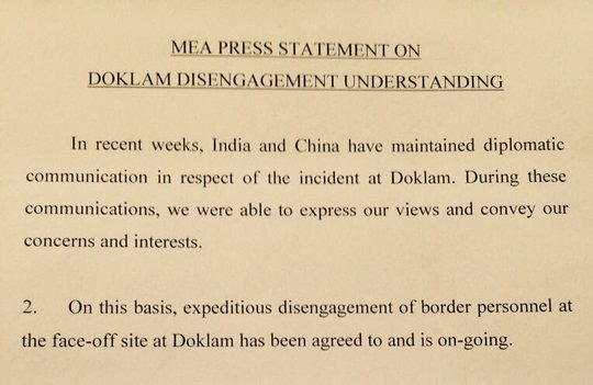 Ấn Độ tuyên bố rút quân, Trung Quốc hài lòng - Ảnh 1.