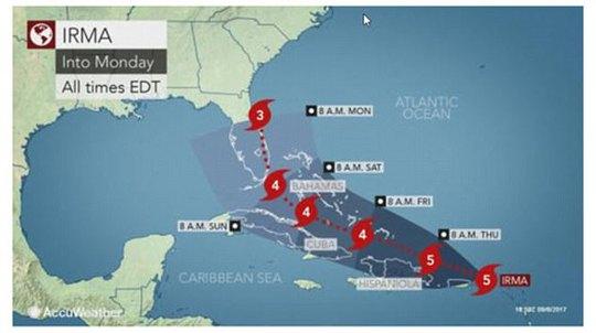 Siêu bão Irma phá hủy 90% đảo Barbuda, đang hướng đến Mỹ - Ảnh 1.
