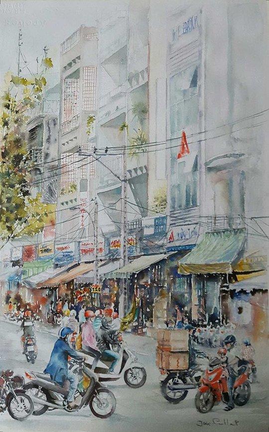 Họa sĩ Pháp triển lãm tranh về Việt Nam tại bảo tàng quê nhà - Ảnh 12.