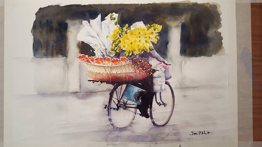 Họa sĩ Pháp triển lãm tranh về Việt Nam tại bảo tàng quê nhà - Ảnh 15.