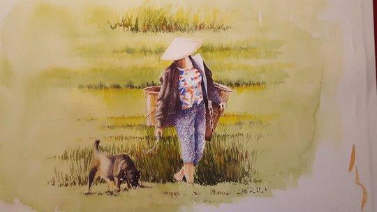 Họa sĩ Pháp triển lãm tranh về Việt Nam tại bảo tàng quê nhà - Ảnh 18.