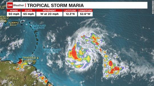 Lại xuất hiện 3 cơn bão ở Đại Tây Dương - Ảnh 1.