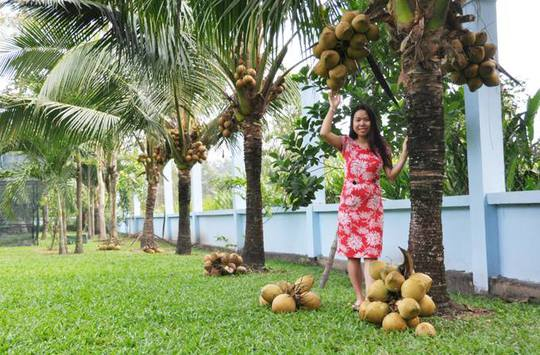 Vườn cây ăn trái 4 tỉ đồng như công viên của bà mẹ 2 con tại TP HCM - Ảnh 1.