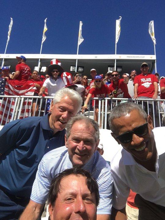 Ba cựu tổng thống Obama, Bush và Clinton gây sốt tại Presidents Cup - Ảnh 5.
