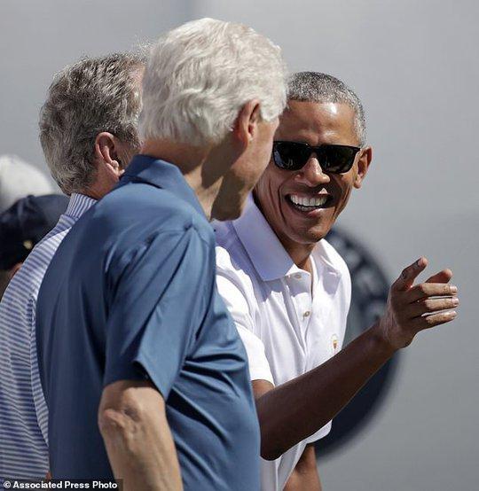 Ba cựu tổng thống Obama, Bush và Clinton gây sốt tại Presidents Cup - Ảnh 3.