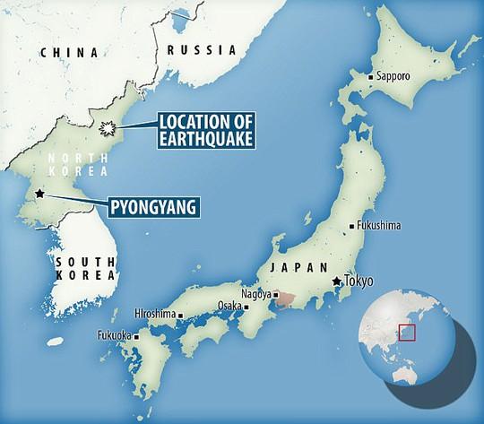 Động đất tại Triều Tiên, rung chuyển cả Trung Quốc, Nga - Ảnh 2.