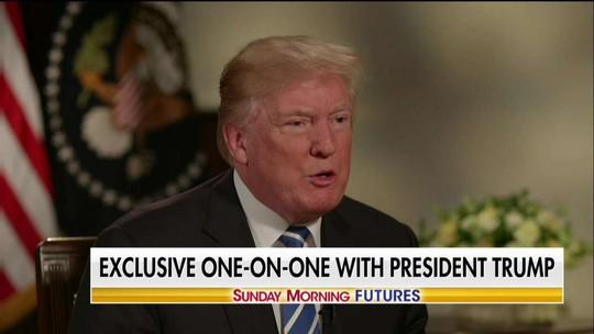 Tổng thống Donald Trump trả lời phỏng vấn kênh Fox News: Ảnh: Fox News
