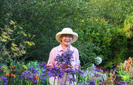 Chốn bình yên bên vườn hoa đẹp như thiên đường của bà lão 83 tuổi - Ảnh 1.