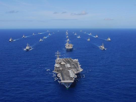 7 tàu sân bay Mỹ đồng loạt xuất hiện, Mỹ - Hàn tập trận hiếm thấy - Ảnh 1.
