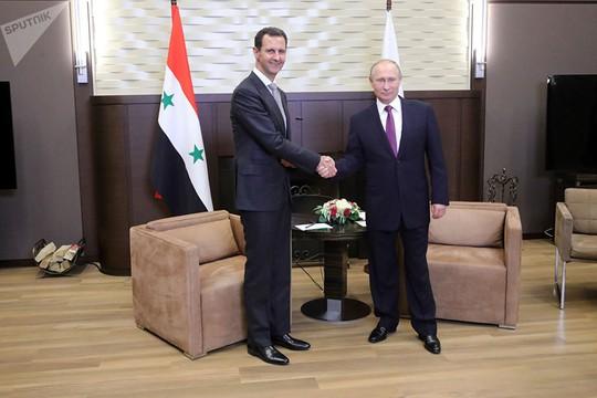 Tổng thống Syria bất ngờ tới Nga, gặp ông Putin - Ảnh 2.