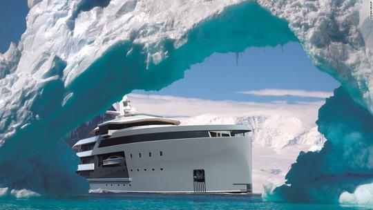 Siêu du thuyền có khả năng phá băng như tàu chiến - Ảnh 1.