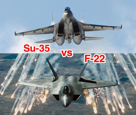 Nga tung tiêm kích Su-35 chặn chiến đấu cơ Mỹ ở Syria - Ảnh 1.