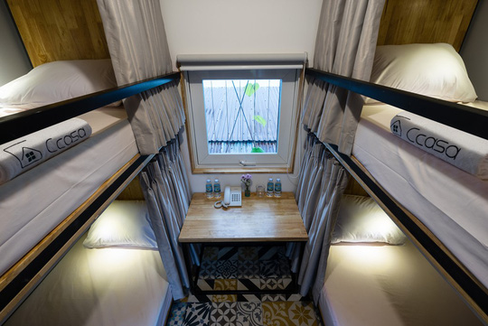 Có nhiều loại phòng ngủ dành cho 4-6 người...
