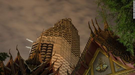 """Lạnh gáy với """"Tòa tháp ma"""" chọc trời giữa lòng Bangkok - Ảnh 4."""