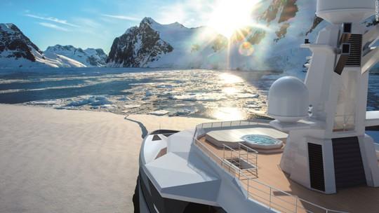 Siêu du thuyền có khả năng phá băng như tàu chiến - Ảnh 12.