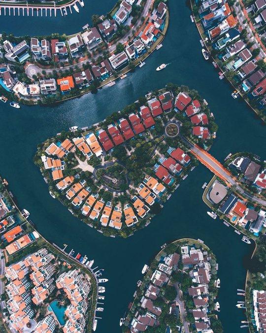 Những kiến trúc ấn tượng của Singapore khi nhìn từ trên cao xuống