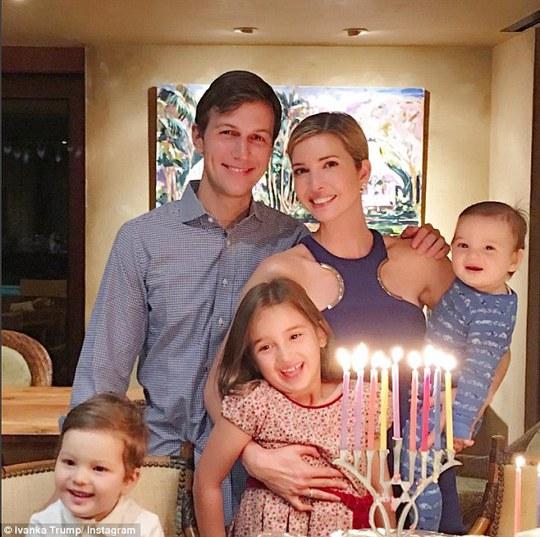 Gia đình con gái ông Trump Ảnh: INSTAGRAM