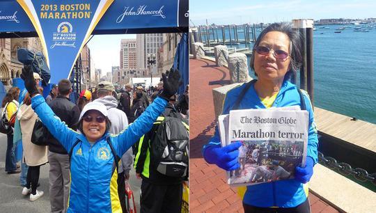 Bà Chau Smith tham gia giải Boston Marathon hồi năm 67 tuổi. Ảnh: SPORTSONEARTH.COM