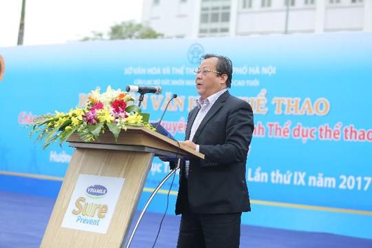 Ông Nguyễn Khắc Lợi, Phó Giám đốc Sở Văn hóa - Thể thao TP Hà Nội, phát biểu khai mạc chương trình