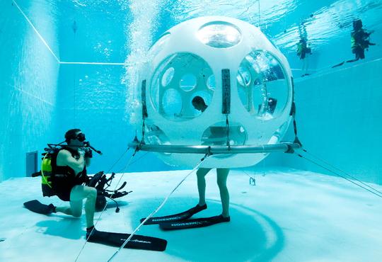 Thực khách thích thú với nhà hàng dưới đáy bể bơi - Ảnh 2.