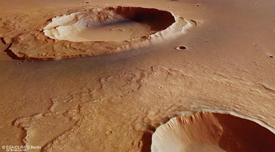 Những tàn dư của trận lụt lớn đã được khám phá trước đây trên hành tinh đỏ. Ảnh: ESA