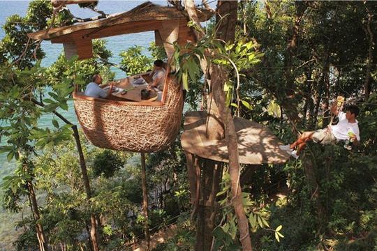 Đến Thái Lan tận hưởng bữa tiệc lơ lửng trên cây - Ảnh 3.