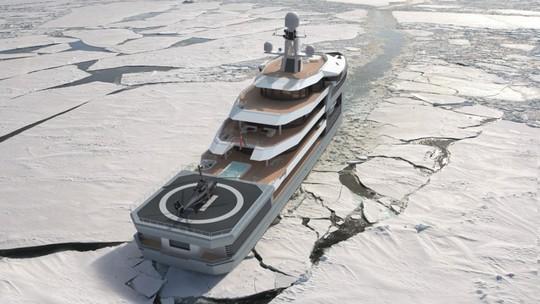 Siêu du thuyền có khả năng phá băng như tàu chiến - Ảnh 4.