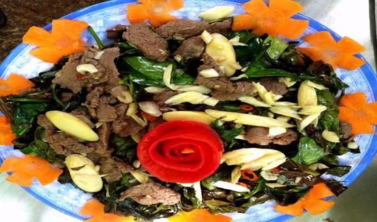 Đậm đà, tinh khiết, thanh mát, ngọt bùi với món rau bép xào thịt bò